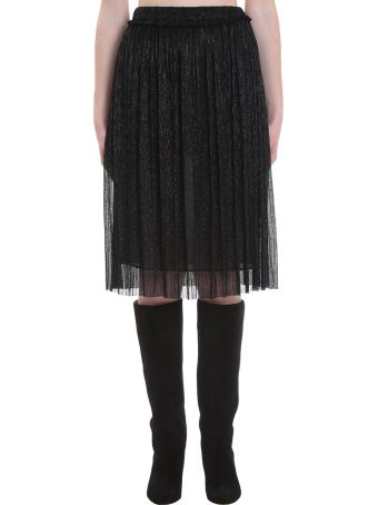 Isabel Marant Étoile Beatrice Skirt In Black Polyester