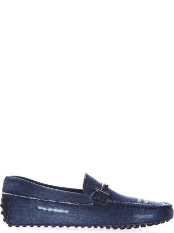 Tod's Double Metal T Denim Loafer