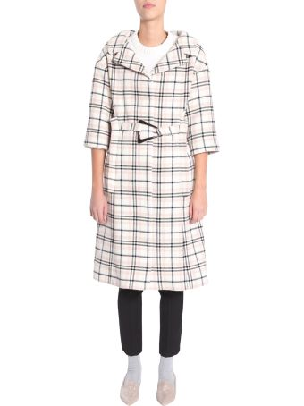 Carven Check Coat