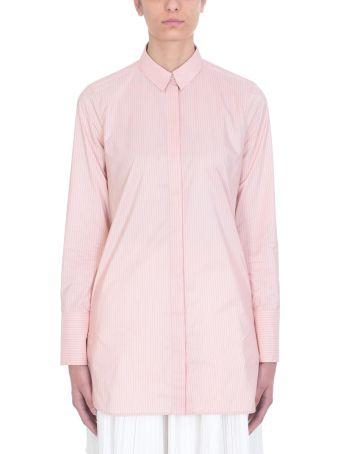 Jil Sander Francesca Stripe Pink Cotton Shirt