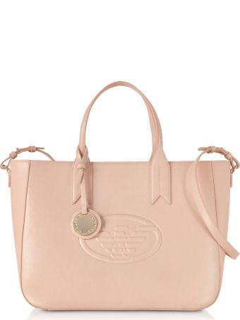 Emporio Armani Medium Embossed Eco Leather Tote Bag