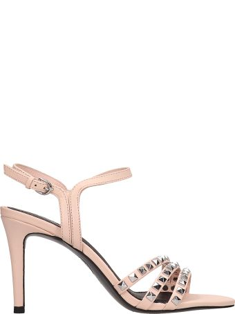 Ash Hello Pink Leather Sandals