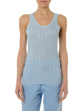 Acne Studios Katrina Top In Light Blue Fabric