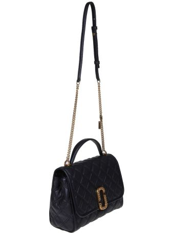 Marc Jacobs Handbag The State Of Quilted Hammered Leather Color Black
