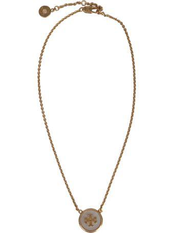 Tory Burch Semi-precious Pendant Necklace