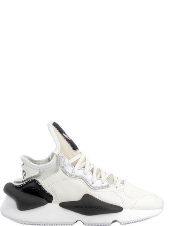 Y-3 Beige/black Leather/fabric Sneakers