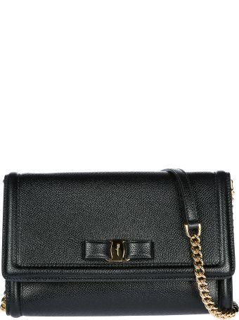 Salvatore Ferragamo  Clutch With Shoulder Strap Handbag Bag Purse Vara