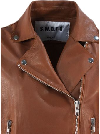 S.W.O.R.D 6.6.44 Brown Lambskin Jacket