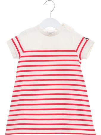 Moncler Striped Dress With Rear Slit