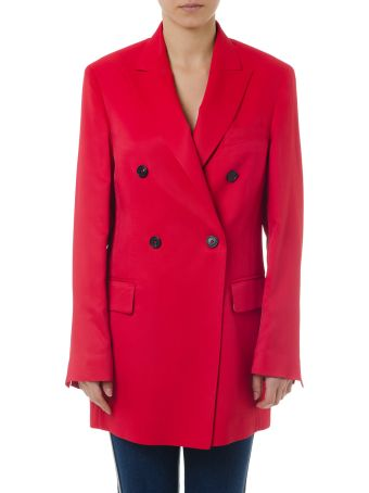 Golden Goose Red Valerie Jacket In Viscose