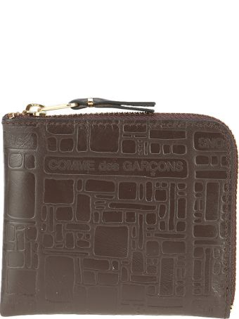 Comme des Garçons Wallet Comme Des Garcons Wallet Mid Zip Logotype