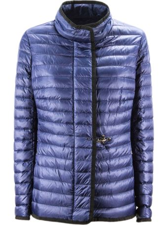 Fay Light Down Jacket In Blue High Tech Fabric