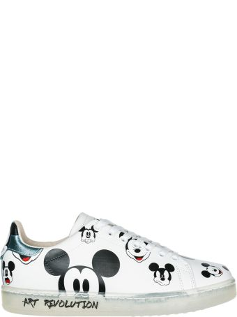 M.O.A. master of arts  Shoes Leather Trainers Sneakers Disney Mickey Mouse
