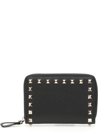 Valentino Zip-around Rockstud Wallet