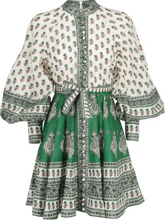 Zimmermann Zimmerman Amari Emerald Dress