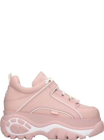 Buffalo Classic Platfor Sneakers In Rose-pink Leather