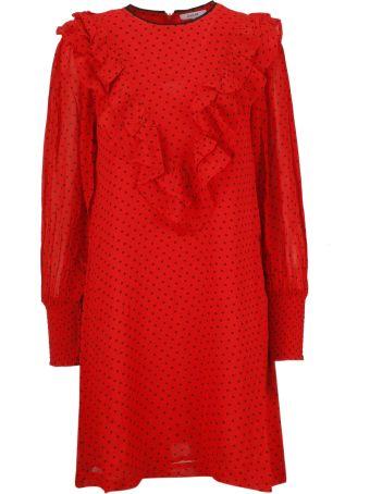 Ganni Polka Dot Short Dress