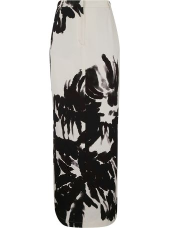 Dries Van Noten Tropical Print Long Skirt