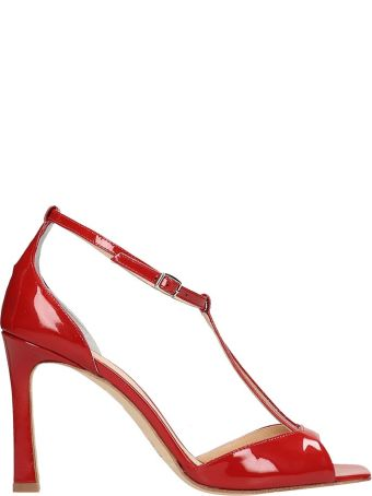 The Seller Red Patent Leather Sandals