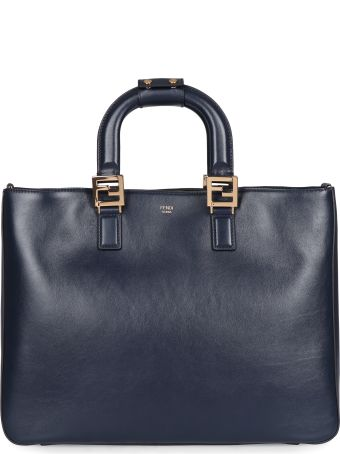 Fendi Ff Leather Tote