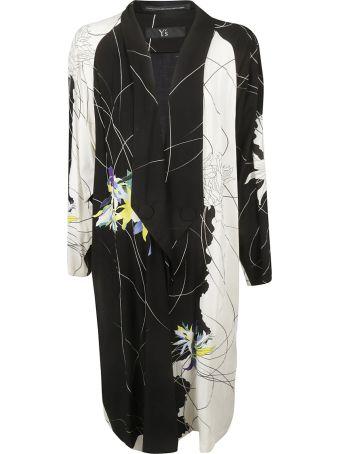 Y's Floral Print Long Coat