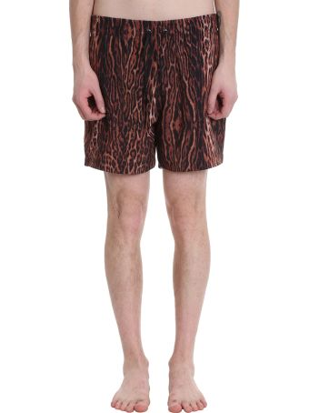 AMIRI Leopard Trunk Animalier Polyester Swimwear