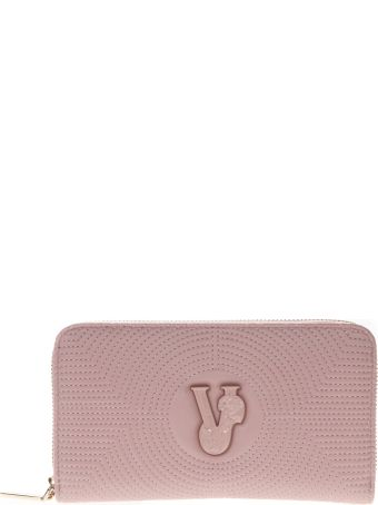 Versace Pink Faux Leather Wallet
