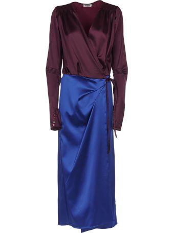 ATTICO Color Block Wrap Dress