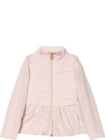 Herno Pink Padded Jacket With Ruffles