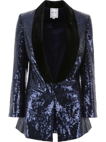 In The Mood For Love Sequins Scarlet Tuxedo Jacket