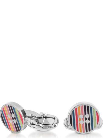 Paul Smith Striped Button Men's Cufflinks