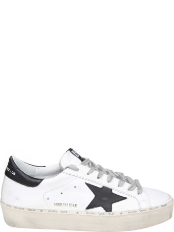 Golden Goose White Leather Hi-star Sneakers