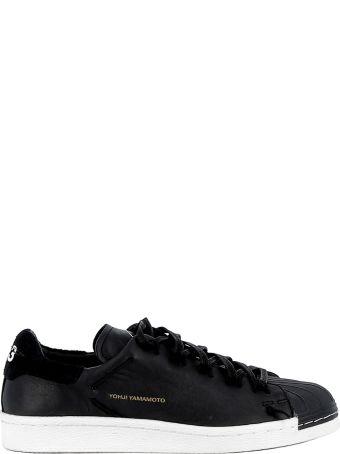 Y-3 Black Leather Sneakers