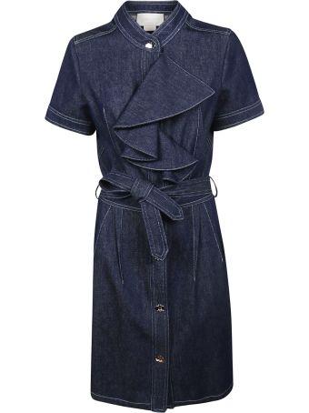 Genny Denim Ruffled Detail Dress