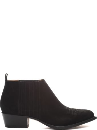 Buttero Tres Western Suede Ankle Boots
