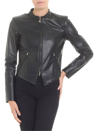 Patrizia Pepe Faux Leather Biker Jacket
