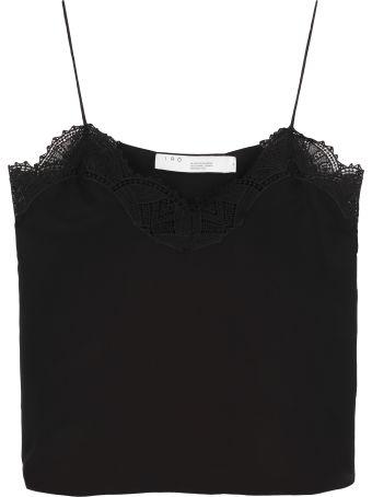IRO Wova Lace Trim Silk Top