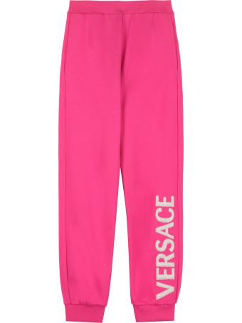 Young Versace Logo Print Sweatpants