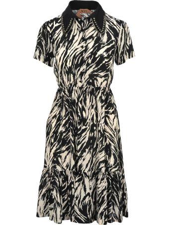 N.21 N21 Crystals Embellished Zebra Dress