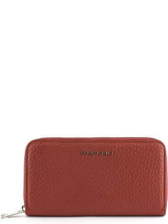 Orciani Red Leather Wallet