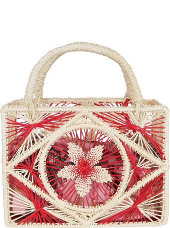 Sensi Studio Multicolor Straw Bag