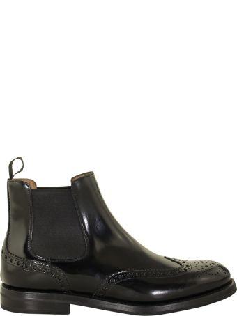 Church's Ketsby Polished Binder Brogue Chelsea Boot Black