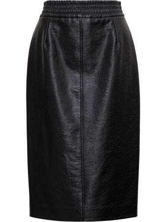 Jucca Leatherette Midi Skirt