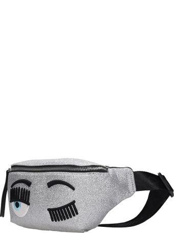 Chiara Ferragni Waist Bag In Silver Leather