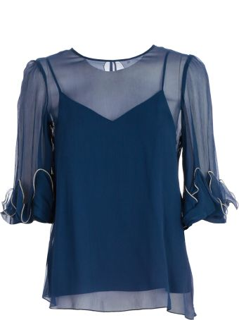 See by Chloé Draped Sheer Blouse