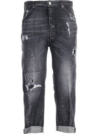 Dsquared2 Ripped Crop Jeans