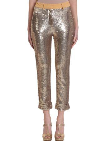 L'Autre Chose Gold Sequins Pants