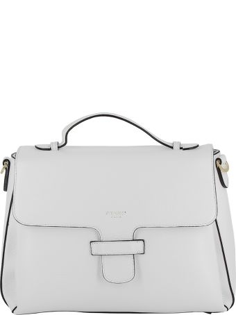 Avenue 67 White Leather Handbag