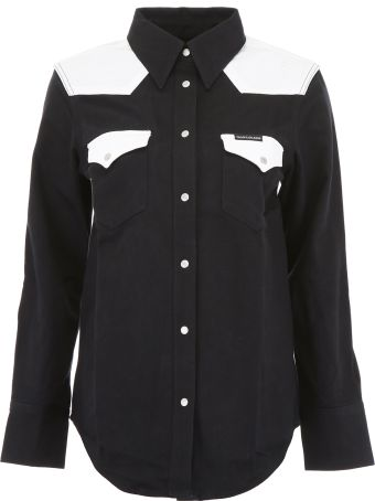 Calvin Klein Jeans Bicolor Denim Shirt