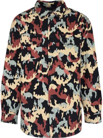 FourTwoFour on Fairfax Printed Cotton Overshirt
